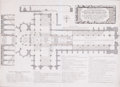 Prints, THE GROUND PLOT OF THE COLLEGIATE CHURCH OF ST. PETER INWESTMINSTER. 1685. 15 x 21 inches (38.1 x 53.3 cm)...