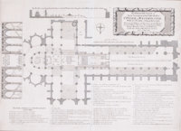 THE GROUND PLOT OF THE COLLEGIATE CHURCH OF ST. PETER IN WESTMINSTER 1685 15 x
