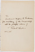 Autographs:Authors, Rupert Hughes (1872-1956, American Writer). Autograph Letter Signed. Very good....