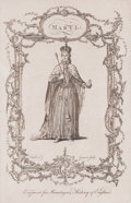Prints, MARY I. Charles Grignion II, 18th century. 10 x 6-1/2 inches(25.4 x 16.5 cm). Engraved by Grignion. E...