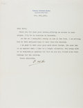 Autographs:Authors, Samuel Hopkins Adams (1871-1958, American Writer). Typed LetterSigned. Very good....