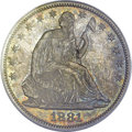 Seated Half Dollars, 1881 50C MS65 PCGS....