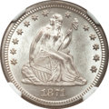 Seated Quarters, 1871 25C MS64 NGC. CAC....