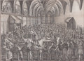Prints, MICHAEL HERR (German, 1591-1661). German Court Scene,Nuremberg, 1644. 63-3/4 x 76-3/8 inches (162.1 x 194.1 cm).Engrav...