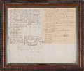 General Americana, DEED OF TRANSFER FROM JOHN SMITH TO JAMES PARKER. North Yarmouth,Massachusetts, May 3, 1728. 12 x 15 inches (30.5 x 38.1 cm...