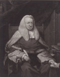 Prints, AN ENGLISH JURIST. 25-1/4 x 21-1/8 inches (64 x 53.7 cm).Engraving. Elton Hyder III Collection Formerly at the Univer...