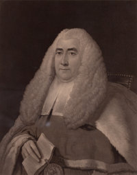 THOMAS GAINSBOROUGH (British, 1727-1788) The Honorable Mr. Justice Blackstone, 19th century Engravin