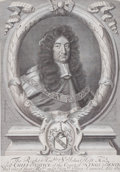 Prints, SIR GODFREY KNELLER (British, 1646-1723). Sir John Holt, LordChief Justice of the Court of King's Bench, 1689. Engravin...