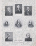 Prints, CHIEF JUSTICES OF THE UNITED STATES SUPREME COURT. 22-1/2 x18 inches (57.2 x 45.7 cm). Eight photogravures of t...
