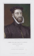 Prints, JAMES STUART, EARL OF MURRAY. REGENT OF SCOTLAND. OB. .1570. 8-1/4 x 5 inches (21.0 x 12.7 cm). Engrave...