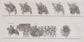 Prints, GREAT WESTMINSTER TOURNAMENT ROLL. 16-5/8 x 26-1/8 inches(42.1 x 66.3 cm). One of a series of reproduction prints of th...