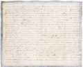 Prints, LAST WILL AND TESTAMENT. 1755. 15-1/4 x 18-1/2 inches (38.7 x 47.0cm). Manuscript. Elton Hyder III Collection Formerly at...