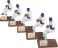Baseball Collectibles:Others, Nolan Ryan Signed Southland Figurines Lot of 5. ...