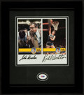 Basketball Collectibles:Photos, John Wooden and Bill Walton Multi Signed Photograph Display. ...