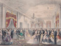 Prints, GRAND RECEPTION OF THE NOTABILITIES OF THE NATION, AT THE WHITEHOUSE. 1865. 16-1/2 x 21 inches (41.9 x 53.3 cm). Newspr...