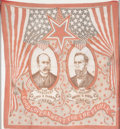 American, GOOD GOVERNMENT FOR THE PEOPLE. 1904. 24 x 22-1/4 inches(61.0 x 56.5 cm). Cloth campaign bandana for Alton ...