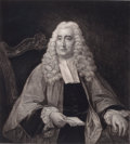 Prints, SIR WILLIAM BLACKSTONE. 19th century. Etching. 17 x 15inches (43.2 x 38.1 cm). Etched by F. Raubicheck, signed. Elton...