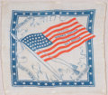 American, PROTECTION VS. FREE TRADE . 1888. 17-1/2 x 19-3/4 inches(44.5 x 50.2 cm). Cloth Campaign bandana for Presid...