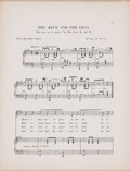 "Prints, ""THE BLUE AND THE GRAY"" . 19th century. 13-1/4 x 10-1/4 inches(33.7 x 26.0 cm). Music Sheet, Lyrics. Elton Hyder III Coll..."