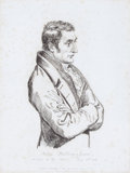 Prints, JOHN BELLINGHAM, SKETCHED AT HIS TRIAL. May 5, 1812. 12-3/4x 10 inches (32.4 x 25.4 cm). Etching. Elton H...