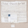 Prints, LAST WILL AND TESTAMENT, VIRGINIA. 1799. Manuscript. 23 x 22 inches(58.4 x 55.9 cm). Elton Hyder III Collection Formerly ...