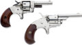 Handguns:Derringer, Palm, Lot of Two Pocket Revolvers.... (Total: 2 Items)