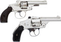 Handguns:Double Action Revolver, Lot of Two Hammerless Double Action Revolvers.... (Total: 2 Items)
