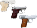 Handguns:Semiautomatic Pistol, Lot of Three Small Semi-Automatic Pistols.... (Total: 3 Items)