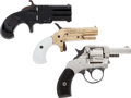 Handguns:Derringer, Palm, Lot of Three Pocket Pistols.... (Total: 3 Items)
