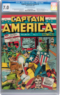 Golden Age (1938-1955):Superhero, Captain America Comics #1 (Timely, 1941) CGC FN/VF 7.0 Off-white towhite pages....