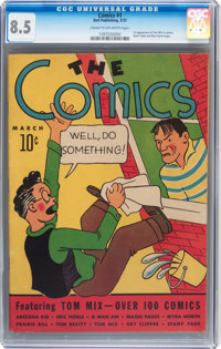 The Comics #1 (Dell, 1937) CGC VF+ 8.5 Cream to off-white pages