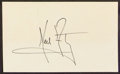 Miscellaneous Collectibles:General, Neil Armstrong Signed Index Card....