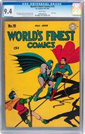 Golden Age (1938-1955):Superhero, World's Finest Comics #19 (DC, 1945) CGC NM 9.4 White pages....