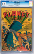 Golden Age (1938-1955):Science Fiction, Planet Comics #9 (Fiction House, 1940) CGC FN/VF 7.0 Cream to off-white pages....
