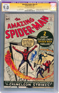 Silver Age (1956-1969):Superhero, The Amazing Spider-Man #1 Signed by Stan Lee (Marvel, 1963) CGCSignature Series Apparent VF/NM 9.0 Slight (A) Off-white to wh...