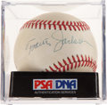 Autographs:Baseballs, 1970's Travis Jackson Single Signed Baseball, PSA/DNA EX-MT+6.5....