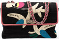 Luxury Accessories:Bags, Heritage Vintage: Chanel Vintage Bird Print Bag with Silver Chain....