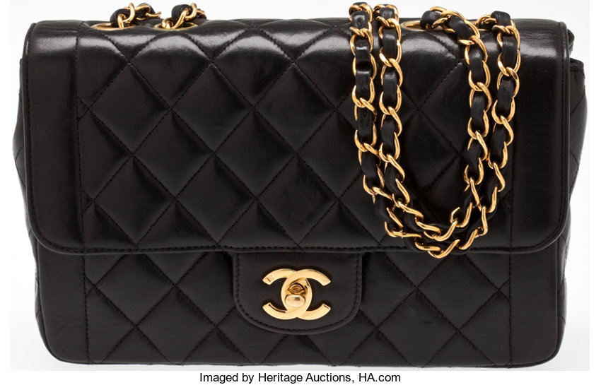 6bde7ff5e41b ... Luxury Accessories:Bags, Heritage Vintage: Chanel Black Quilted Lambskin  Flap Bag with GoldHardware ...