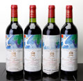 Red Bordeaux, Chateau Mouton Rothschild 1982 . Pauillac. 2bsl, 1hscl,1ltc. Bottle (4). ... (Total: 4 Btls. )