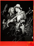 Music Memorabilia:Autographs and Signed Items, ZZ Top Band-Signed Photo....