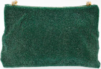 Heritage Vintage: Gucci Green Beaded Clutch