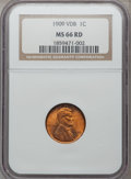 Lincoln Cents: , 1909 VDB 1C MS66 Red NGC. NGC Census: (1434/103). PCGS Population (1951/207). Mintage: 27,995,000. Numismedia Wsl. Price fo...