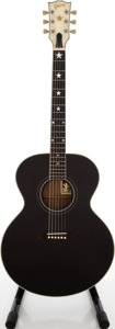 Musical Instruments:Acoustic Guitars, 1993 Gibson J-180 EB Black Acoustic Guitar, Serial # 93433002....