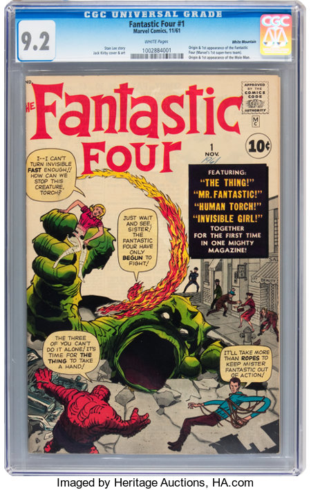 Fantastic Four #1 White Mountain pedigree (Marvel, 1961) CGC NM- 9.2 White pages....