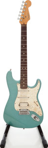 Musical Instruments:Electric Guitars, 1997 Fender Lone Star Stratocaster USA Ocean Turquoise Solid BodyElectric Guitar, #N7243907....