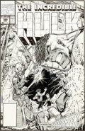 Original Comic Art:Covers, Dale Keown The Incredible Hulk #388 Cover Original Art (Marvel, 1991)....
