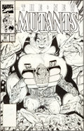 Original Comic Art:Covers, Rob Liefeld and Todd McFarlane The New Mutants #88 Cable,Blob, and Pyro Cover Original Art (Marvel, 1989)....