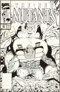 Rob Liefeld and Todd McFarlane The New Mutants #88 Cable, Blob, and Pyro Cover Original Art (Marvel, 1989)