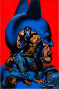 Original Comic Art:Illustrations, Glenn Fabry Batman: Vengeance of Bane Special #1 First Appearance of Bane Painted Cover Original Art (DC, ...