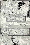 Original Comic Art:Panel Pages, Rob Liefeld and Bob Wiacek New Mutants #87 First FullAppearance of Cable Page 18 Original Art (Marvel, 1990)....